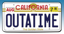 Image: Back To The Future 'OUTATIME' License Plate Replica  -