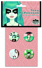 Image: Tara McPherson Button Pack Series One  - Dark Horse