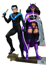 Image: Batman Family Multi-Part Statue Part 2: Nightwing & Huntress