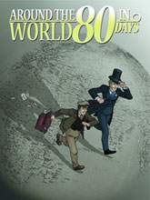 Image: Around the World in 80 Days HC  - IDW Publishing