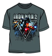 Image: Iron Man 2 T-Shirt: Thee Triangle [Charcoal]  (L) - Mad Engine