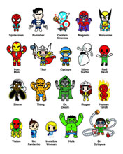 Image: Marvel X Tokidoki Frenzies 30-Piece Bmb Display  -