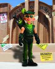 Image: Mad Just Us League of Stupid Heroes Series 1 Action Figure: Green Arrow  - DC Direct