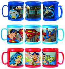 Image: DC Superheroes 3-Piece Die-Cut PVC Mug Set  -