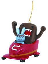 Image: Domo Ornament: Domo & Friends in Bobsled  - Dark Horse Comics