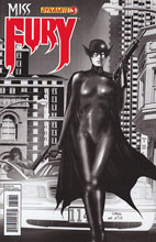Image: Miss Fury #3 (50-copy Reis B&W incentive cover) - Dynamite