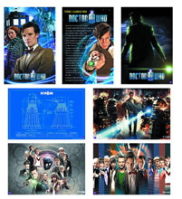 Image: Doctor Who: 42-Piece 24x36 Rolled Poster Dump  - Doctor Who