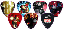 Image: Iron Man 3 Character Guitar Pick Pack  - Marvel Heroes Collectibles & Novelties