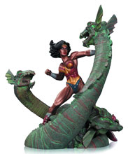 Image: Wonder Woman vs. Hydra Patina Mini-Statue  - DC Comics