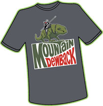 Image: Mountain Dewback T-Shirt  (S) - Antarctic Press
