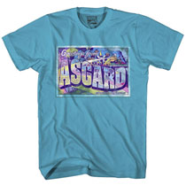 Image: Thor: Greetings from Asgard T-Shirt [Turquoise]  (L) -