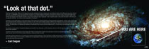 Image: Carl Sagan Rolled Poster: You Are Here  -