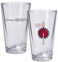Image: Game of Thrones Pint Glass: Martell Sigile  - Dark Horse Comics