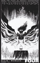 Image: Project Superpowers: Blackcross #4 (Shalvey b&w variant incentive cover - 04061) (25-copy) - Dynamite