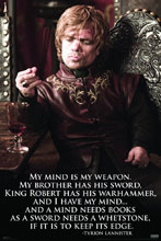Image: Game of Thrones Poster: Tyrion Quote  (24x36) -