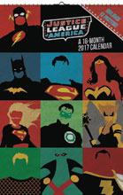Image: Justice League Oversized 2017 Wall Calendar  - Trends Intl