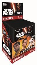 Image: Topps 2016 Star Wars: The Force Awakens Sticker Pack Display  - Topps Company
