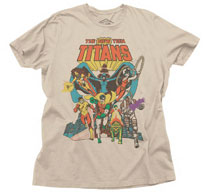 Image: New Teen Titans T-Shirt [Putty]  (M) - Junk Food Clothing