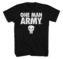 Image: Punisher T-Shirt: One Man Army [Black]  (L) - Mad Engine