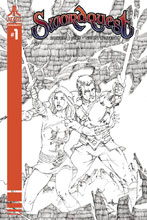 Image: Swordquest #1 (cover E incentive - Rubi B&W) (20-copy) - Dynamite