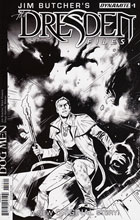 Image: Jim Butcher's The Dresden Files: Dog Men #1 (cover B incentive - Galindo B&W) (10-copy) - Dynamite