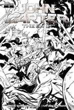 Image: John Carter: The End #5 (Brown b&w incentive cover - 05031) (10-copy) - Dynamite