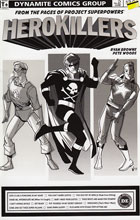 Image: Project Superpowers: Hero Killers #2 (Pete Woods b&w incentive cover - 02041) (20-copy) - Dynamite