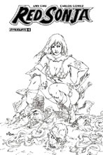 Image: Red Sonja Vol. 04 #6 (Rubi b&w incentive cover - 06081) (30-copy) - Dynamite