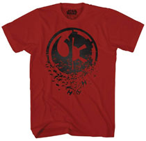 Image: Star Wars T-Shirt: Duel Side / Black Foil [Cardinal Red]  (XL) - Mad Engine