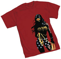 Image: Wonder Woman T-Shirt: Shadows  (XL) - Graphitti Designs
