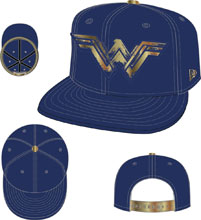 Image: DC 950 Snap Back Cap: Wonder Woman Foiled Print Logo  - New Era Cap Co