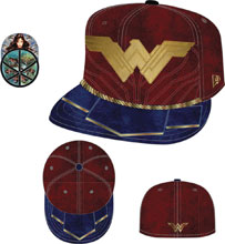 Image: DC 5950 Fitted Cap: Wonder Woman Symbol Size  (7 3/8) - New Era Cap Co