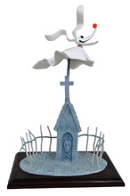 Image: Nightmare Before Christmas Deluxe Doll: Zero  - Diamond Select Toys LLC