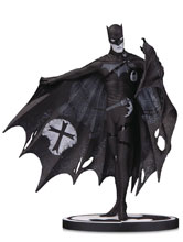Image: Batman Black & White Statue: Batman by Gerard Way  - DC Comics