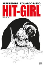 Image: Hit-Girl #5 (cover B - Risso B&W) - Image Comics