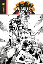 Image: Charlie's Angels #1 (cover F incentive - Eisma B&W) (30-copy) - Dynamite