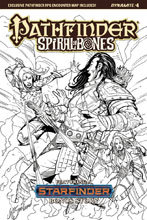 Image: Pathfinder: Spiral of Bones #4 (cover E incentive - Santucci B&W) (20-copy) - Dynamite