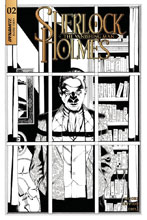 Image: Sherlock Holmes: The Vanishing Man #2 (cover C incentive - Cassaday B&W) (20-copy) - Dynamite