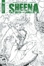 Image: Sheena: Queen of the Jungle #10 (cover F incentive - Royle B&W) (20-copy) - Dynamite