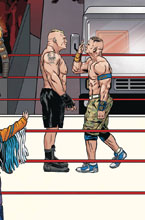 Image: WWE #18 (variant Connecting cover - Schoonover Raw ) - Boom! Studios