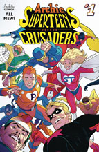 Image: Archie's Superteens vs. Crusaders #1 (cover A - Connecting) - Archie Comic Publications
