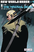 Image: Walking Dead #180 (DFE signed & Remarked Head Sketch - Haeser) - Dynamic Forces