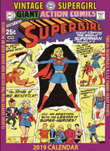 Image: Vintage DC Comics Supergirl 2019 Wall Calendar  - Asgard Press