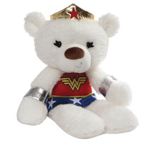Image: Gund DC Fuzzy Bear Plush: Wonder Woman  (14-inch) - Gund