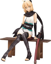 Image: Fate Grand Order PVC Figure: Saber Souji Okita  (Resting version) (1/8 Scale) - Wing