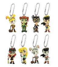 Image: DC Lil Bombshells Backpack Clip Blind Mystery Box Display  - Cryptozoic Entertainment