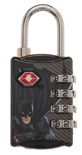 Image: DC TSA Combination Lock: Batman  - Bioworld Merchandising