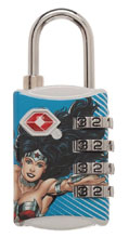 Image: DC TSA Combination Lock: Wonder Woman  - Bioworld Merchandising