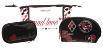 Image: DC Harley Quinn Mad Love Juniors Cosmetic 3-Piece Set  - Bioworld Merchandising