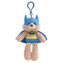 Image: Gund DC Plush Backpack Clip: Batman  (7-inch) - Gund